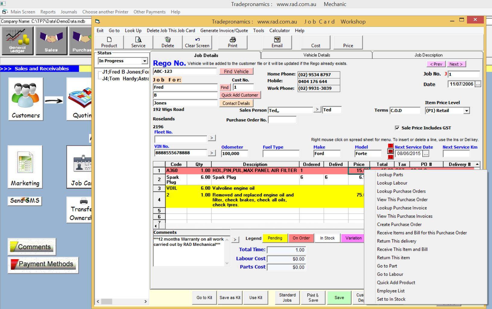 Mechanical Workshop Software Tyre Sales Software Intended For Mechanic Job Card Template Professional Templ Mechanic Jobs Tires For Sale Mechanical Workshop