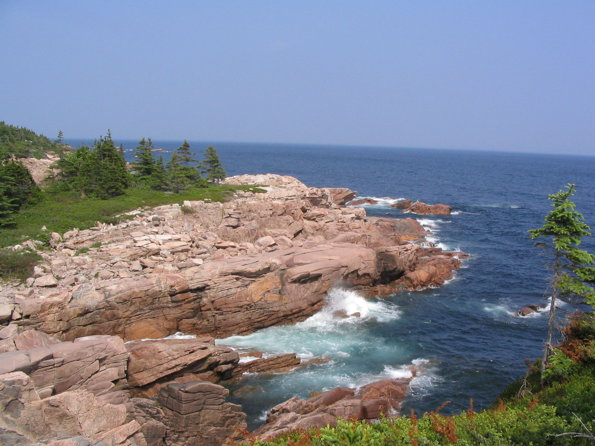 The Coastal hiking trail not far from Ingonish on the Cabot Trail in Cape Breton.