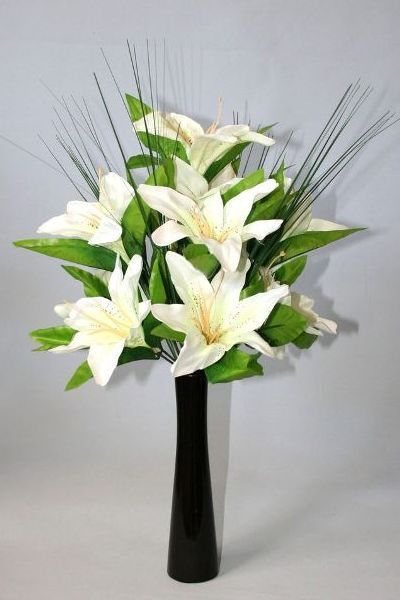 Lily artificial flower arrangements in vase how to arrange lily artificial flower arrangements in vase how to arrange artificial flowers in a tall vase tutorial pictures for fake silk floral developments how to mightylinksfo