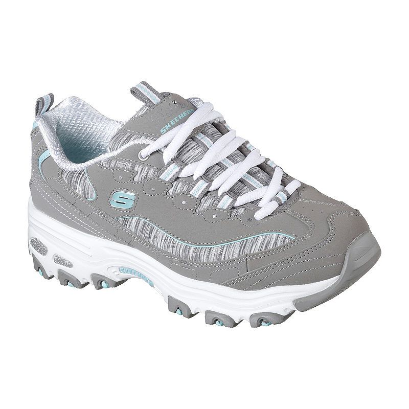 Details about Skechers D Lites 9 medium navy Lace up Sneakers Looking Glass