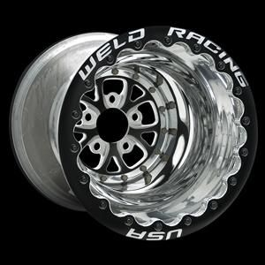 Weld V Series Double Beadlocks Drag Racing Racing Wheel Custom