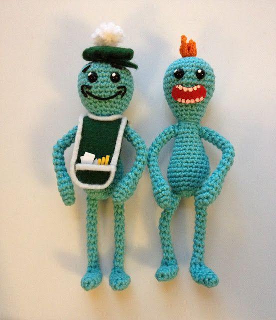 The Unknown Orchard: Mr. Meeseeks Amigurumi - Free Crochet Pattern ...