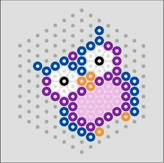 Eule 6eck 8 Perlen Basteln Bugelperlen Hama Perlen Muster Eisenperlen