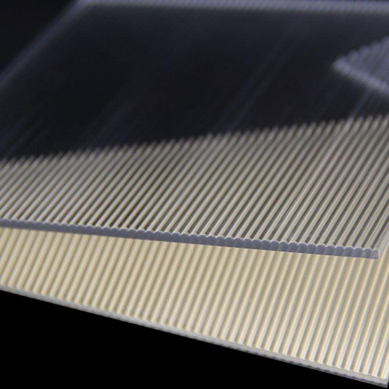 Clear Linear Textured Acrylic Plate Acrylic Sheets Orange Peel Texture Linear
