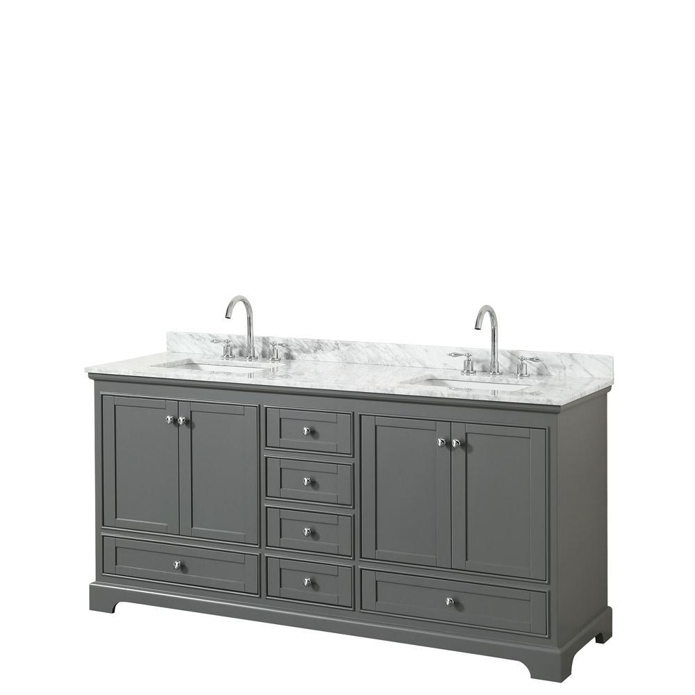 1 363 Home Depot Deborah 72 In W X 22 In D Vanity In Dark Gray With Marble Vanity Top Double Vanity Bathroom Marble Vanity Tops Double Sink Bathroom Vanity [ 1000 x 1000 Pixel ]