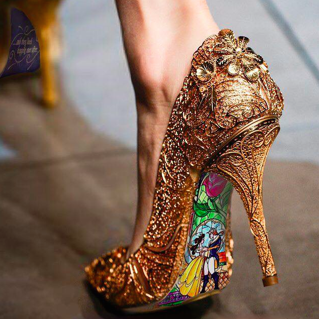 9787176cad3 Dolce   Gabbana 2013 - Photoshopped as Beauty and the Beast Shoes  3 ...