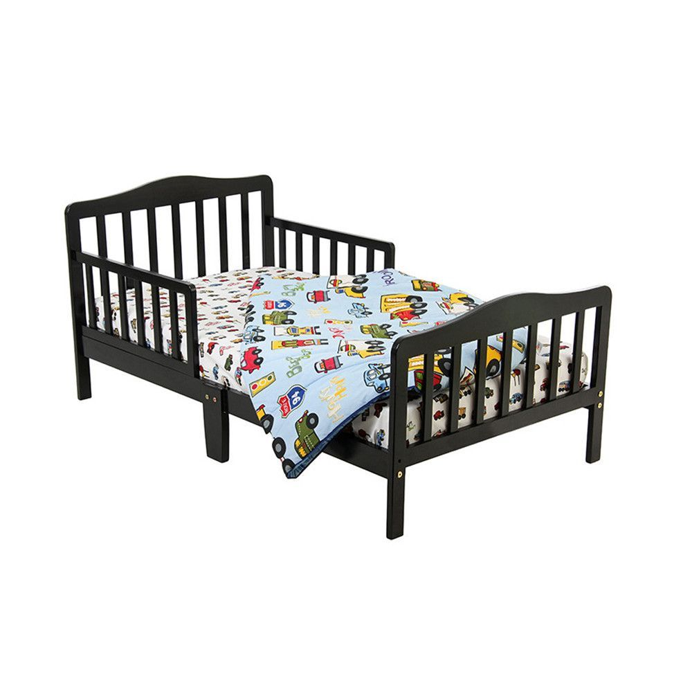 Dream On Me Home Kids Room Classic Design Toddler Bed Black