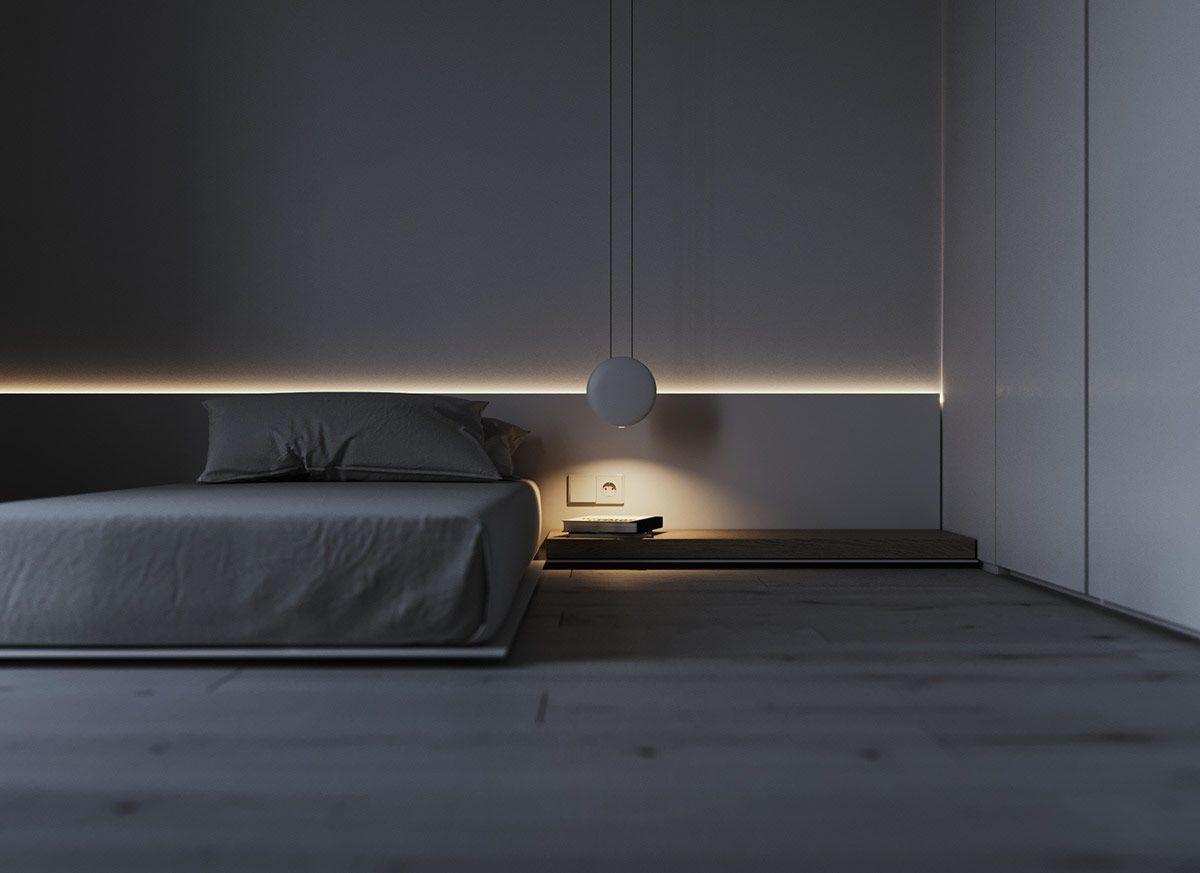 Beige E Grigio Arredamento due casa interni minimalista, con arredamento grigio e