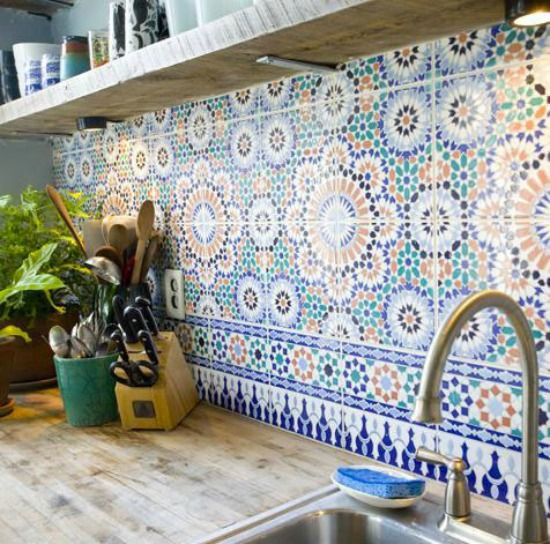 Backsplash Keukentegel Marokkaanse Tegels Thuisdecoratie