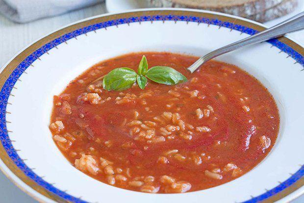 Tomatensuppe mit Reis – Rezept