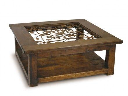 Zuku Trading Coffee Table With Glass And Wrought Iron With Images
