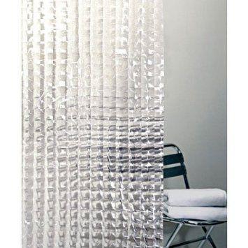 Cubic Vinyl Prism Transparent Shower Curtain Vinyl Shower