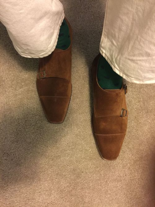 6cfc24dfd4264 Edward Green, Westminster double monk, tobacco suede today | Shoes ...