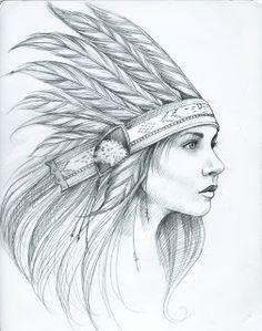 eb16ba5bcd8 headdress girl silhouette - Google Search