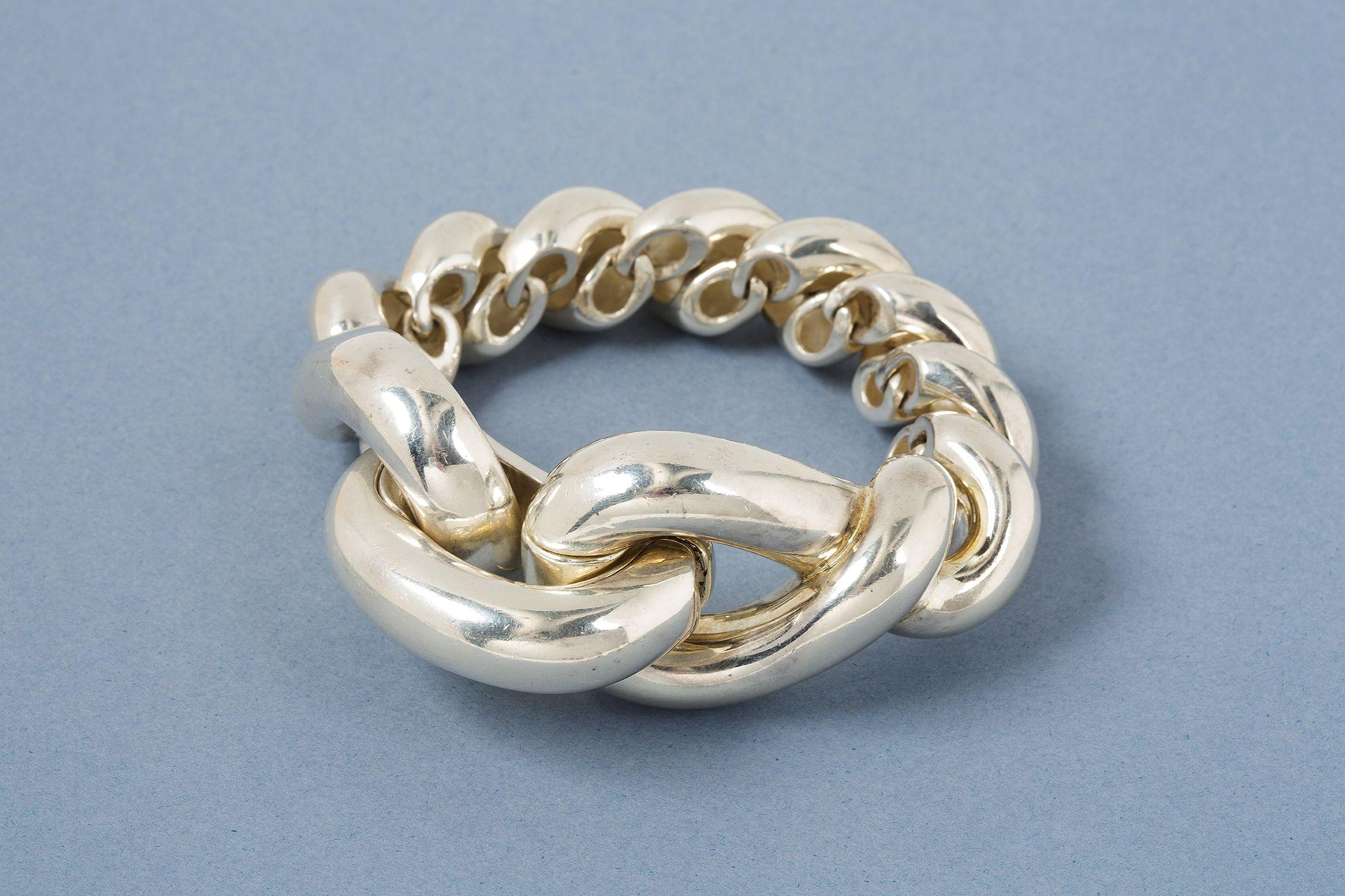 HERMÈS - Bracelet en argent 1er titre 925‰, modèle Torsade , taille XL à f2780cc29a3