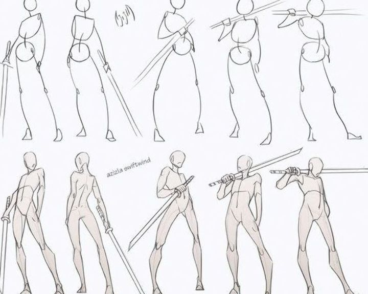 Swordsman Poses Pack Follow My Patreon For All Sketches And Resources Drawing Reference Reso Drawing Body Poses Art Reference Poses Figure Drawing Reference