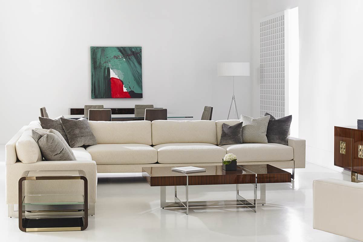 Dakota for Decca Home – Tristan Sectional Sofa with Auden Bentwood