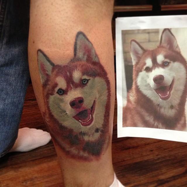 7deb29c68 Cap1 Tattoos : Tattoos : Francisco Sanchez : Siberian Husky Portrait ...