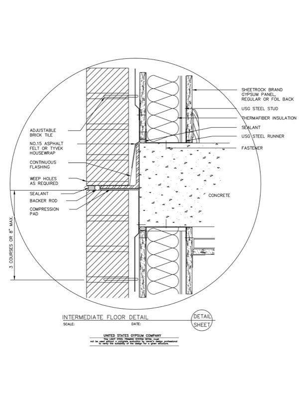 Usg Design Studio 09 21 16 63 161 Light Steel Framing Intermediate Floor Light Steel Framing