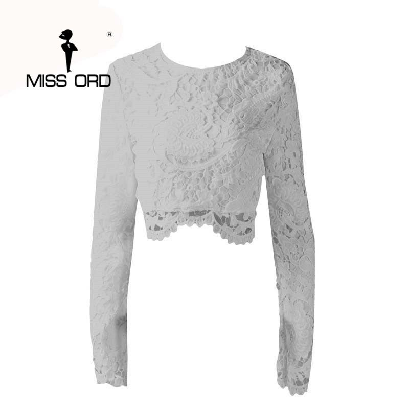 Free Shipping  2017 Sexy backless long sleeve lace stitching TOPS FT2410