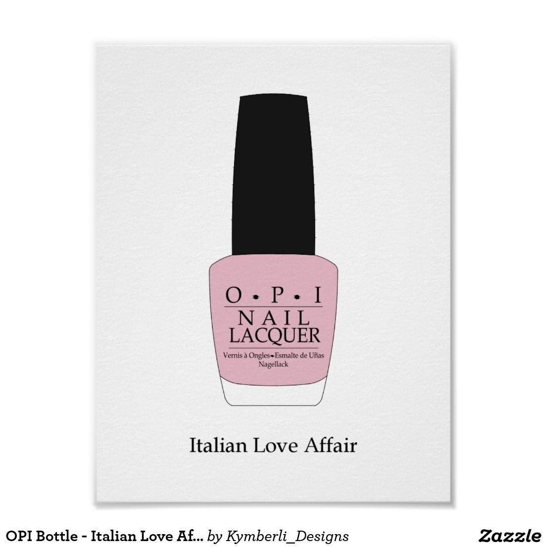 OPI Bottle - Italian Love Affair Poster | OPI and Bottle