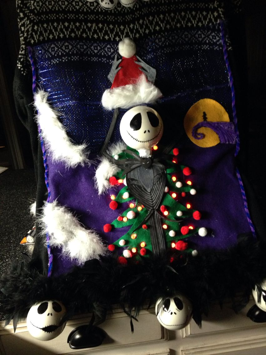 Nightmare Before Christmas Ugly Christmas Sweater By Nicole Weekley