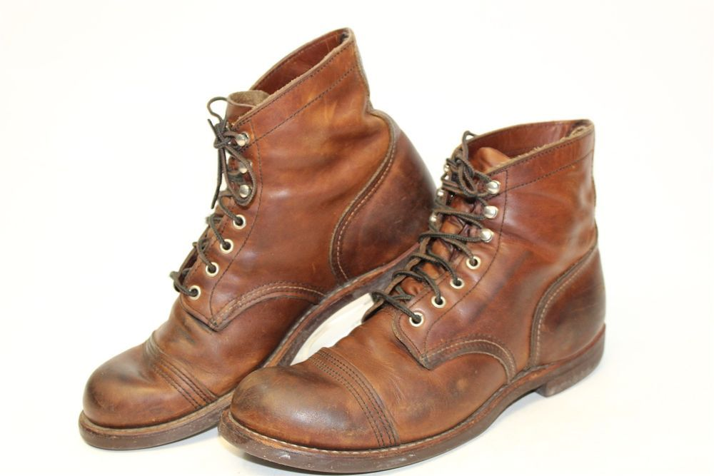 Red Wing Mens 95 D 425 Iron Ranger 6 Leather Lace Up Usa Made