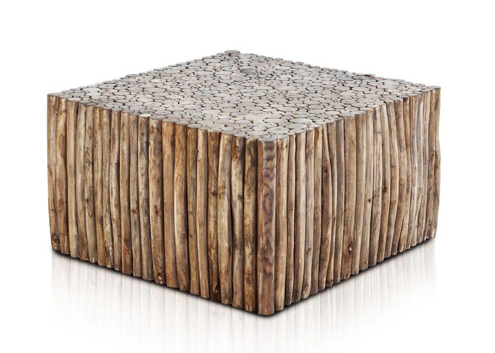Wohnzimmertisch quadratisch ~ Couchtisch aus teak astwerk massivholz geräuchert quadratisch
