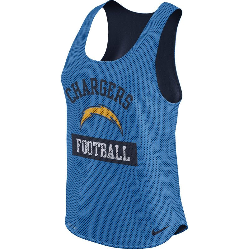79d5422f Los Angeles Chargers Nike Women's Gear Up Mesh Performance Tank Top ...