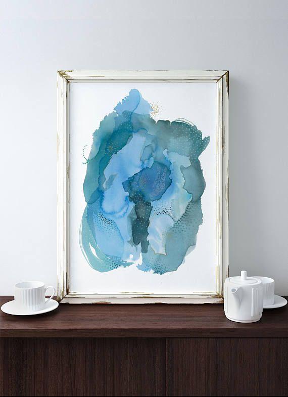 Diese abstrakte Kunst-Druck machen eine schöne Ergänzung für Ihre - wohnzimmer bilder abstrakt