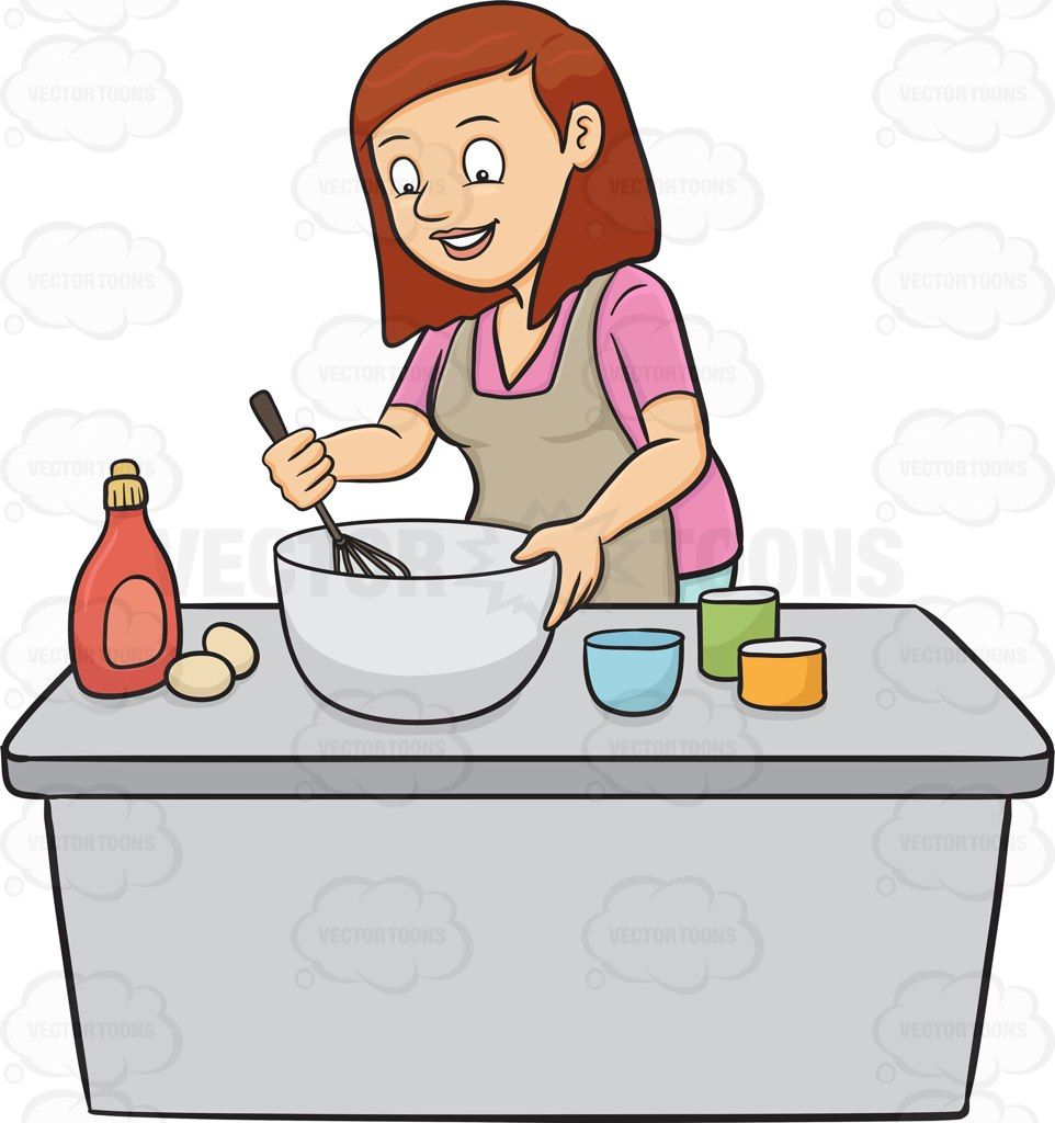 A woman enjoys mixing the cake batter #apron #baking # ...
