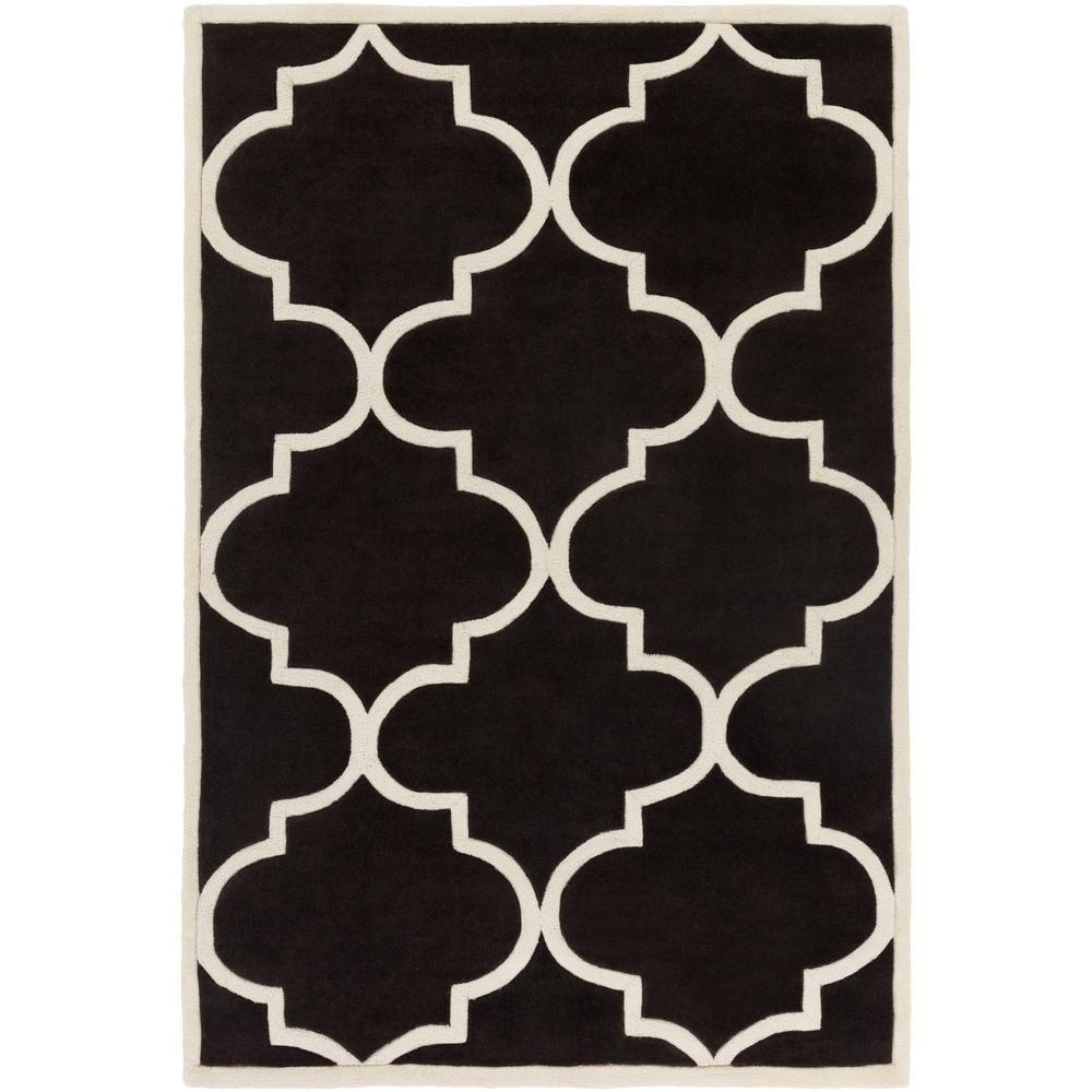 Santorini Harmony Onyx Black 8 Ft X 11 Ft Indoor Area Rug Industrial Area Rugs Wool Area Rugs Rugs