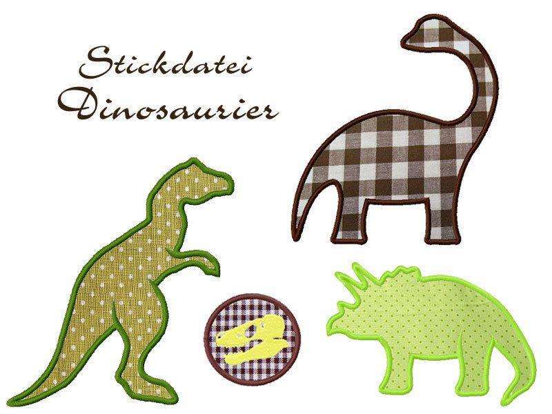 Dinosaurier Stickdatei, Applikation | Stickdateien | Pinterest ...