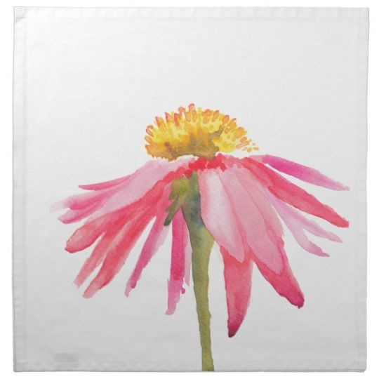 Pink Daisy Napkin | Zazzle.com
