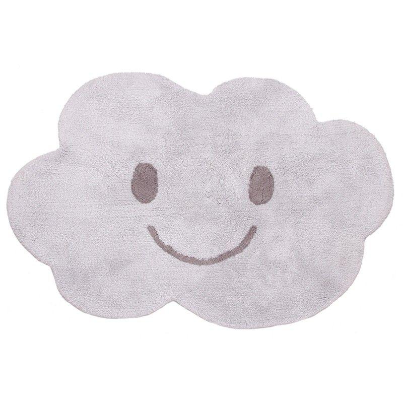 kinderteppich wolke grau 100 baumwolle maschinenwaschbar 115 x 75 cm