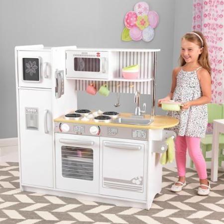 kidkraft uptown white children pretend play kids wooden kitchen