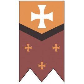 Estandarte Medieval Cruces Medieval Estandartes Decoraciones Medievales
