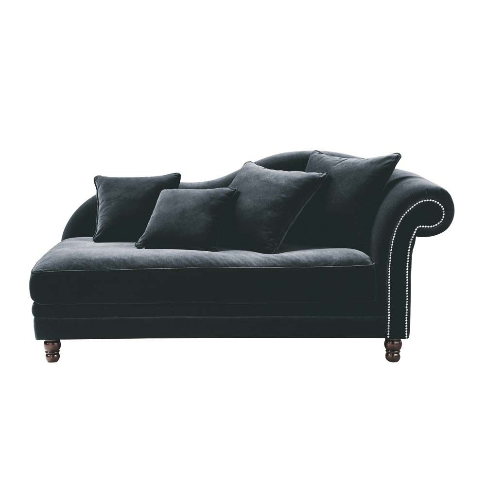 Chaise longue  sc 1 st  Pinterest : black velvet chaise lounge - Sectionals, Sofas & Couches