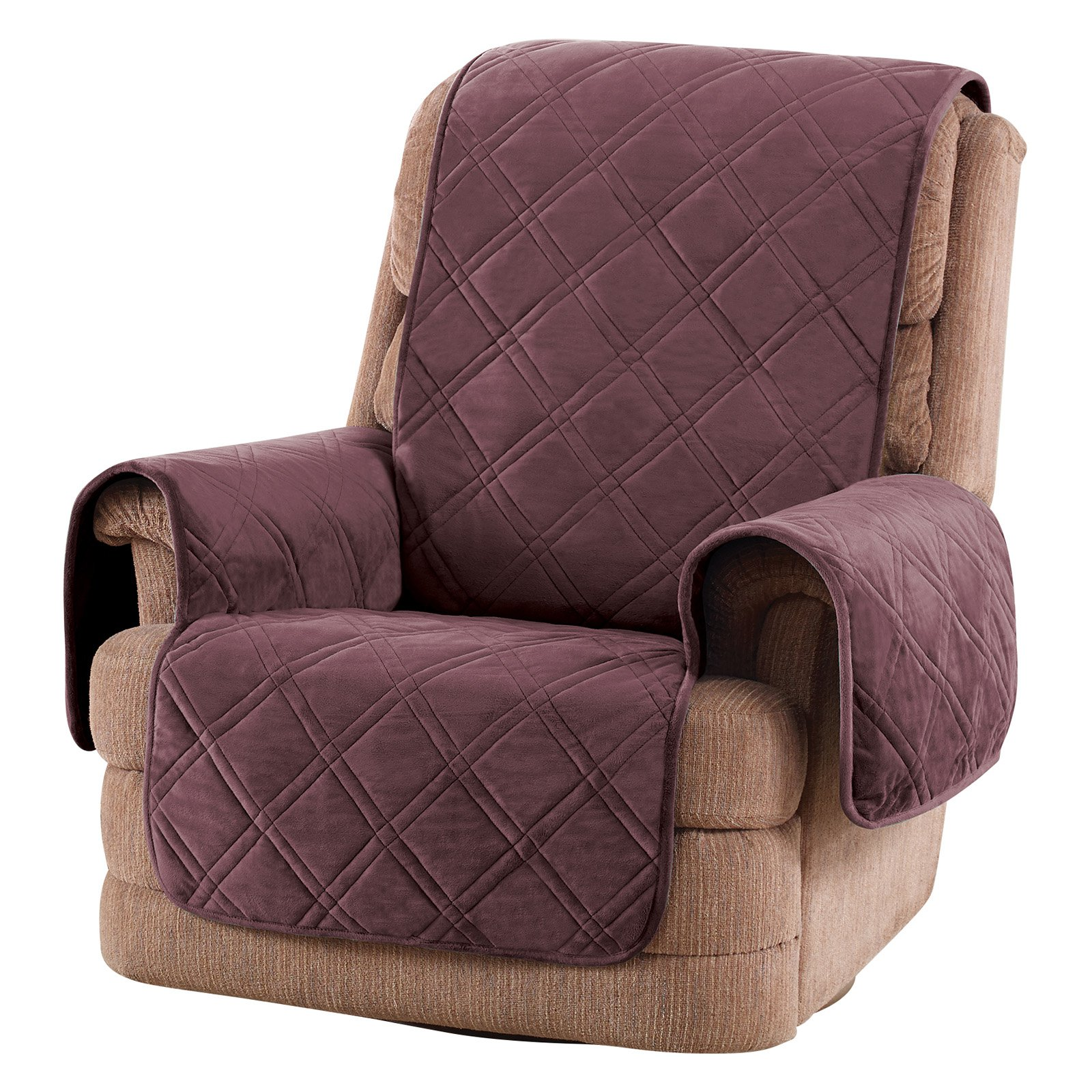 Sure Fit Triple Protection Recliner Protector Mulberry Recliner Cover Recliner Slipcover Furniture Protectors