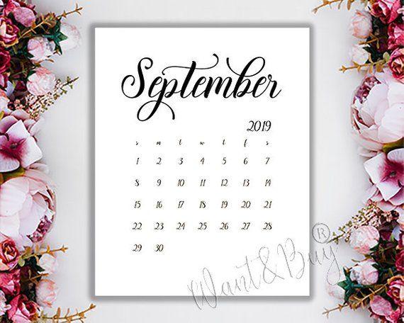 september 2019 limited time instant download digital file