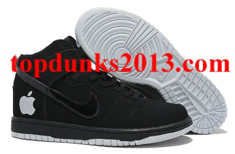 Online Sale High Tops Nike Dunk Apple White Black