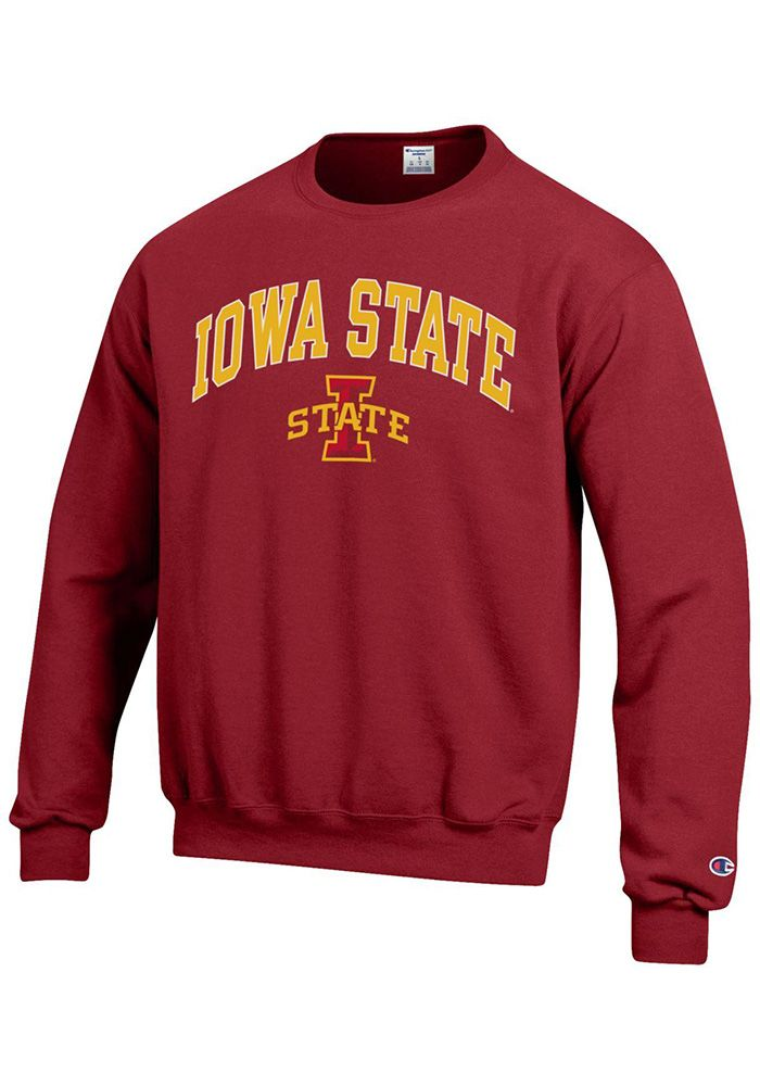 best service 5cc24 ac89c Champion Iowa State Cyclones Mens Cardinal Arch Mascot Long Sleeve Crew  Sweatshirt, Cardinal, 50% COTTON  50% POLYESTER, Size XL