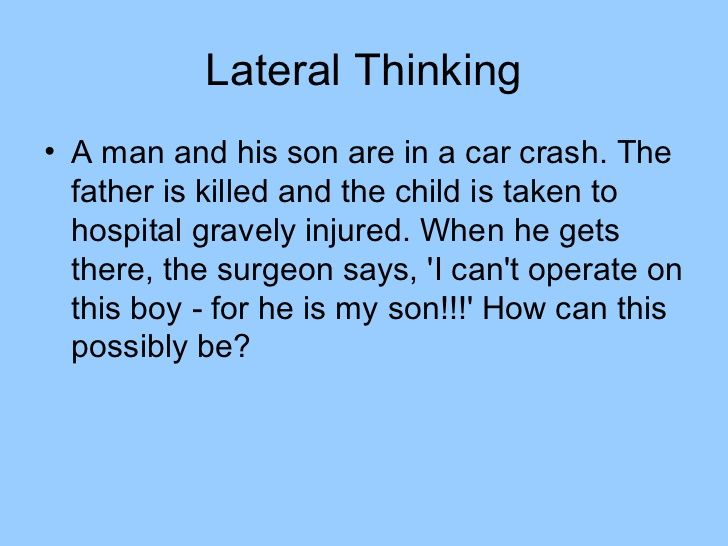 Lateral Thinking Puzzles Lateral Thinking Lateral Thinking