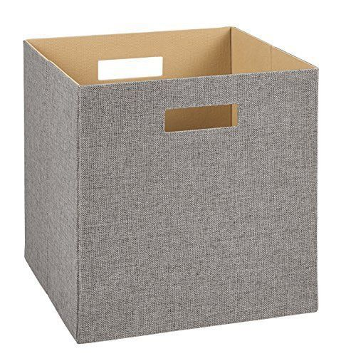 Decorative Fabric Storage Boxes Closetmaid 7116 Decorative Fabric Storage Bin Gray  Fabric