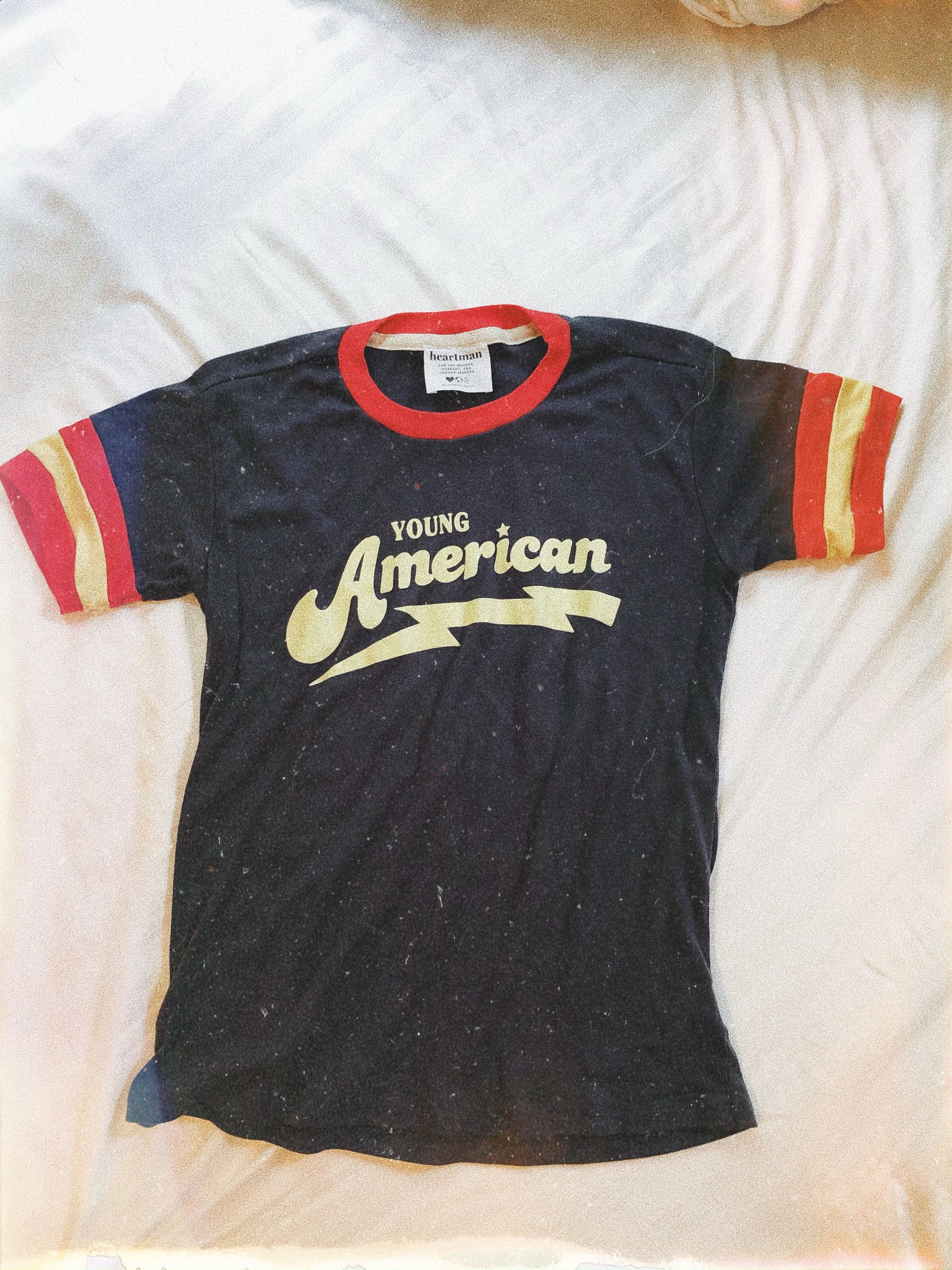 Young American Ringer Tee 70s T Shirts Tee Design Inspiration Retro Shirts