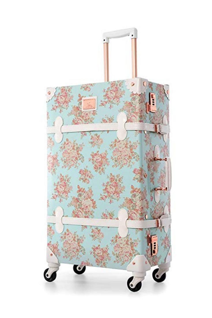 4c5e62781 UNIWALKER Travel Floral Suitcases Vintage Cute Luggage for Women ...