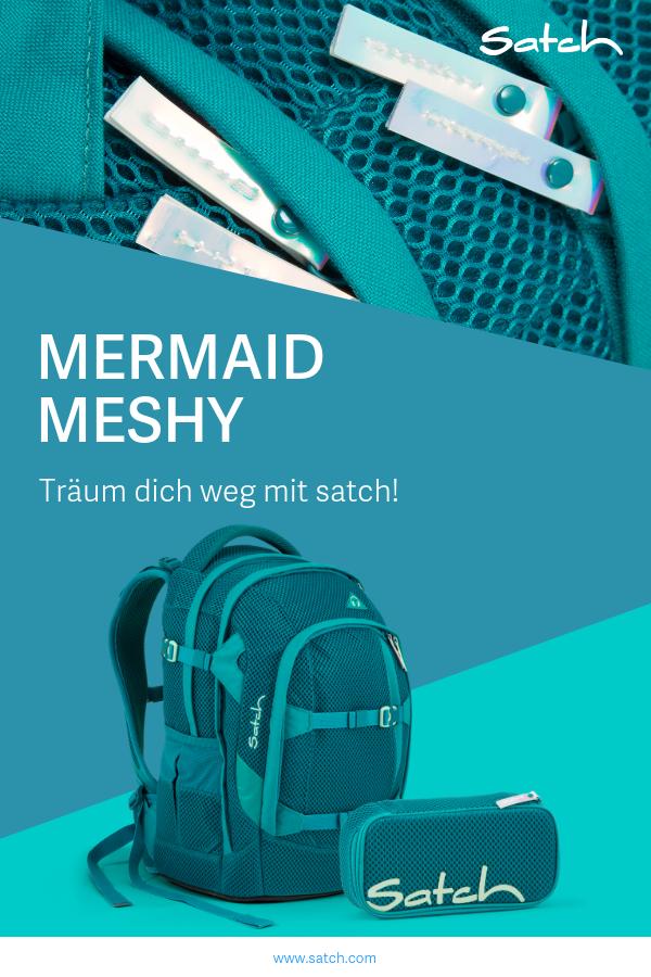 225f4273a9c45 Entdecke die neue satch Limited Edition! Der Mermaid Meshy in angesagtem  Türkis nimmt dich mit