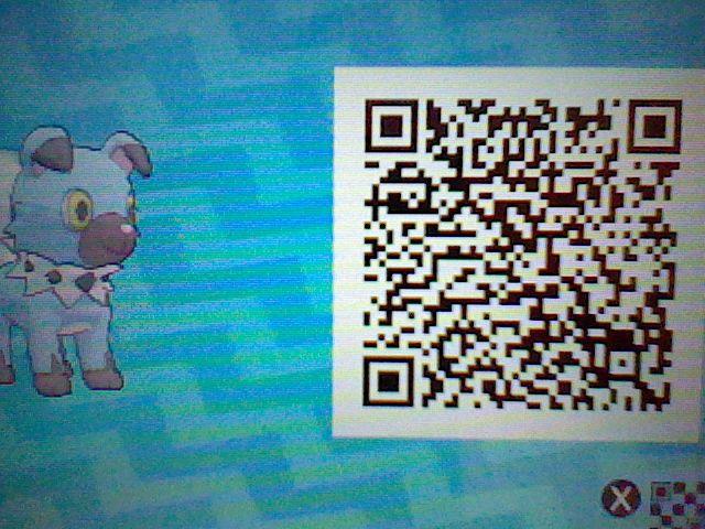 Kaden My Shiny Rockruff With Pokemon Sun Moon Qr Code