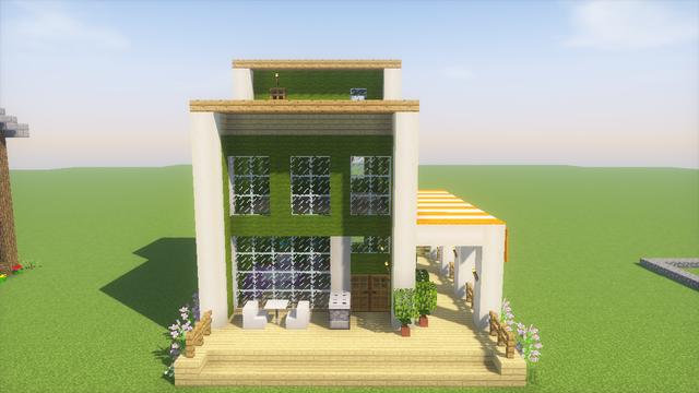 久しぶりに 16ハウス を建てました シラカバのウッドデッキが開放的