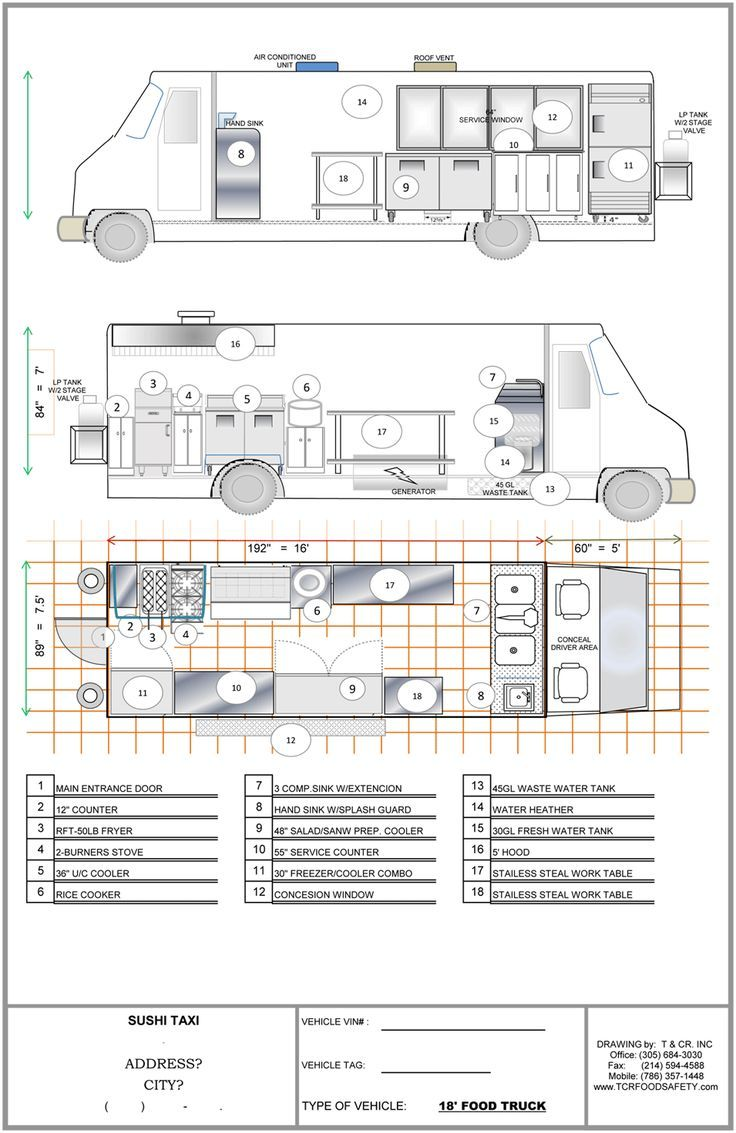 Food Truck Plumbing Diagram